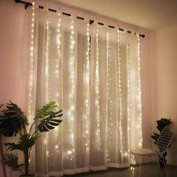 300LED/10ft Curtain Fairy Hanging String Lights Wedding Part
