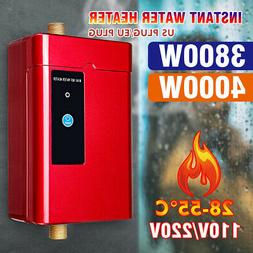 4000W 110V/220V Instant Electric Tankless Hot Water Heater K