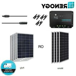 Renogy 400W 12V Solar Panel Bundle Kit Off Grid Battery Char