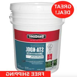 5 GALLON Roof Elastomeric Coating RV Rubber Metal Tar Mobile