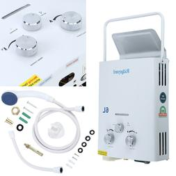 6L Propane Gas LPG Portable Tankless Hot Water Heater Outdoo