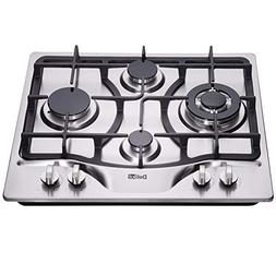 DeliKit DK245-A03 24 inch LPG/NG gas cooktop gas hob 4 Burne