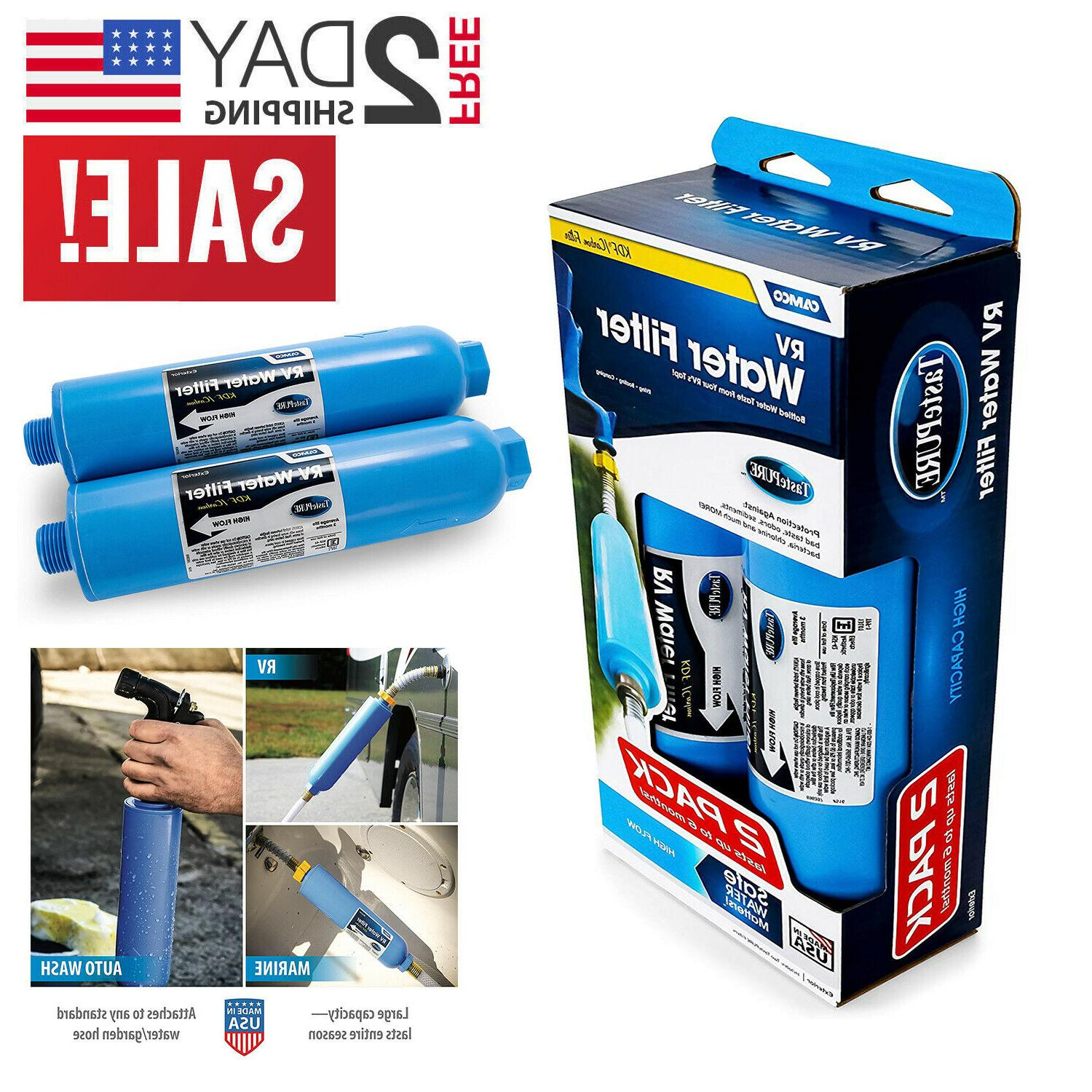 2 pack rv water filter inline camping