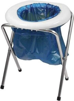 Portable Toilet Seat Camping Commode Bags Folding Outdoor Tr