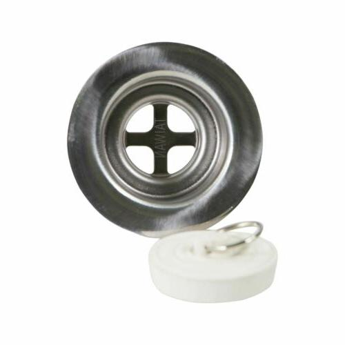 Stainless Steel Bath Tub Drain Rubber Stopper RV showers