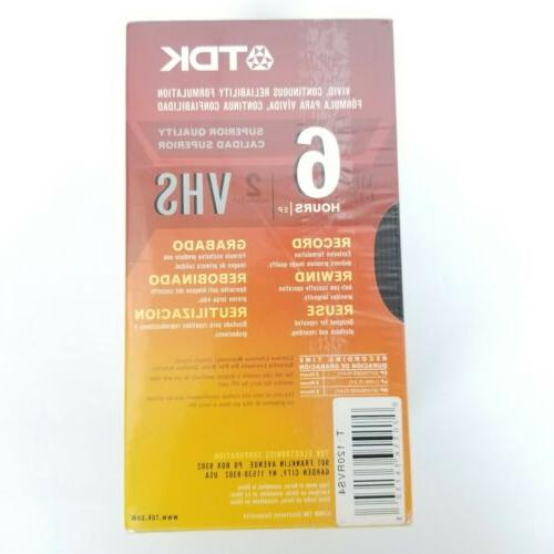 TDK 4 Of Superior Quality VHS Video 6-Hour Capacity