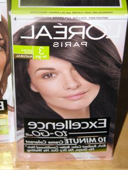 L'OREAL EXCELLENCE TO GO 10 MINUTE CREME COLORANT HAIR COLOR