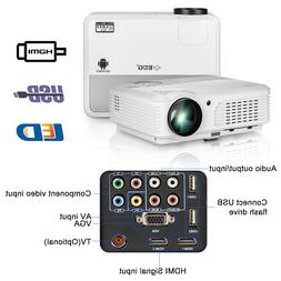 1080p Projector LED LCD Home Theater For RV Movie Family Par