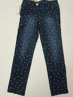 NWT SONOMA life + style Girl's Blue w/White Dots Jeggings Si