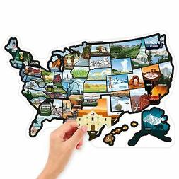 See Many Places RV State Stickers United States Travel Campe