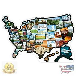 RV State Stickers United States - Travel Camper Map RV Decal
