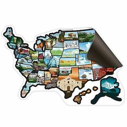 SEE MANY PLACES .com RV State Magnet United States Travel Ca