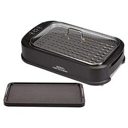Power Smokeless Grill with Tempered Glass Lid with Interchan