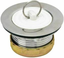 Stainless Steel Bath Tub Drain Assembly & Rubber Stopper Str