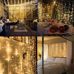 100 LED 10m Fairy Curtain String Lights Wedding Party Room D